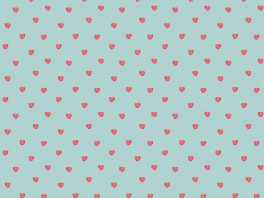 Sweet Hearts - Turquoise/Roze