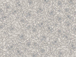 Linosol Flowers - Zwart/Wit