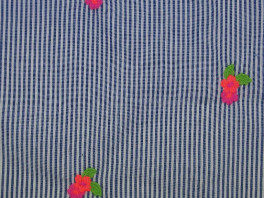 Neon Embroidery - Blauw/Wit