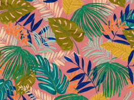 Tropical Leaves - Roze