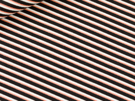 Diagonals - Canvas Twill - Zwart/Wit/Koper