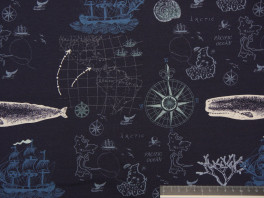 Nautical Toile - Donker blauw