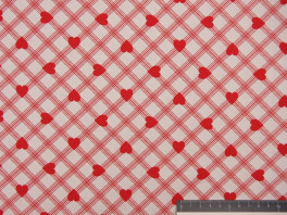 Plaid Heart - Rood