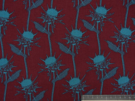 Mary Thistle - Bordeaux rood / Blauw