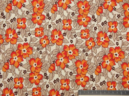 Old Faschioned Floral - Oranje