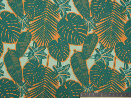 Satijn Crepe - Jungle Leaves