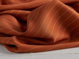 Tencel Pin Stripe Twill - Spice