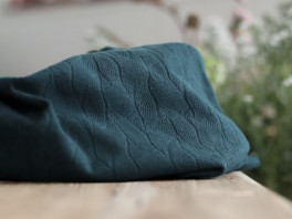 Organic Leaf Jacquard - Bottle Green