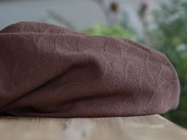 Organic Leaf Jacquard - Dust Brown