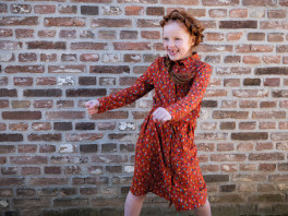 Glitter Dots - Tricot - Roest