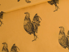 Rooster - Cotton Lawn - Chai Oker